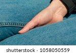 beautiful hand and the denim   Shutterstock . vector #1058050559