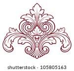 vintage baroque damask  design... | Shutterstock . vector #105805163