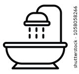 bathtub design icon for shower  ... | Shutterstock .eps vector #1058058266