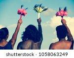 back of african american women... | Shutterstock . vector #1058063249