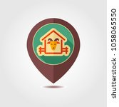 goat house pin map icon. farm...