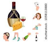 manipulation by hands cartoon... | Shutterstock .eps vector #1058113880