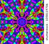 psychedelic background.... | Shutterstock . vector #1058119706