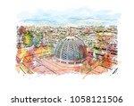 sultan qaboos grand mosque in... | Shutterstock .eps vector #1058121506