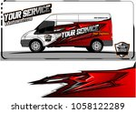 van graphic kit. abstract...   Shutterstock .eps vector #1058122289