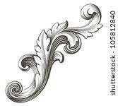 vintage baroque design frame... | Shutterstock . vector #105812840