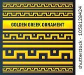 ancient greek ornament. set of...