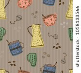 seamless vector pattern with... | Shutterstock .eps vector #1058133566