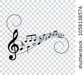 musical design element  music... | Shutterstock .eps vector #1058138576