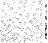 hand drawn hearts. background.  ... | Shutterstock .eps vector #1058138780