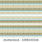 tribal pattern  ethnic repeated ... | Shutterstock . vector #1058143106