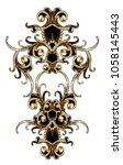 golden baroque ornament | Shutterstock . vector #1058145443