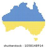 a dotted pixel australia map.... | Shutterstock .eps vector #1058148914