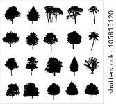 set of twenty black vector... | Shutterstock .eps vector #105815120