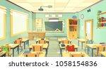 vector school classroom...   Shutterstock .eps vector #1058154836