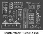 vector set of new yourk city... | Shutterstock .eps vector #105816158
