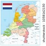 netherlands administrative... | Shutterstock .eps vector #1058162150