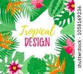 vector illustration. tropical... | Shutterstock .eps vector #1058169236
