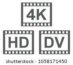 symbols of video formats. 4k hd ...   Shutterstock .eps vector #1058171450