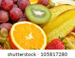 fresh tropical fruits | Shutterstock . vector #105817280