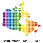 a dotted lgbt canada map for... | Shutterstock .eps vector #1058173400