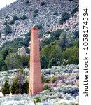 Small photo of Abandoned Mill Stack - Belmont Nevada (ghost town)