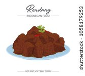 rendang is which originated... | Shutterstock .eps vector #1058179253