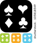 playing cards suits   vector... | Shutterstock .eps vector #105818549