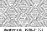 monochrome doodle art deco... | Shutterstock .eps vector #1058194706