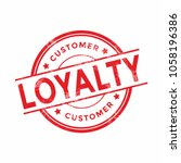 customer loyalty red rubber... | Shutterstock .eps vector #1058196386