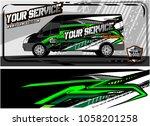 abstract van graphic kit for... | Shutterstock .eps vector #1058201258