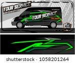 abstract van graphic kit for... | Shutterstock .eps vector #1058201264