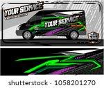 abstract van graphic kit for... | Shutterstock .eps vector #1058201270