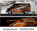 abstract van graphic kit for...   Shutterstock .eps vector #1058201306