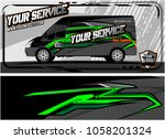 abstract van graphic kit for... | Shutterstock .eps vector #1058201324