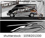 abstract van graphic kit for... | Shutterstock .eps vector #1058201330