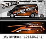 abstract van graphic kit for... | Shutterstock .eps vector #1058201348