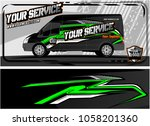 abstract van graphic kit for... | Shutterstock .eps vector #1058201360