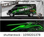 abstract van graphic kit for... | Shutterstock .eps vector #1058201378