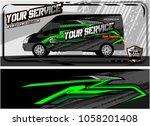 abstract van graphic kit for... | Shutterstock .eps vector #1058201408