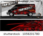 van graphic kit. modern vehicle ... | Shutterstock .eps vector #1058201780