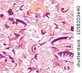 tracery seamless pattern.... | Shutterstock .eps vector #1058203640