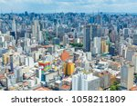 sao paulo  brazil. aerial view. ... | Shutterstock . vector #1058211809