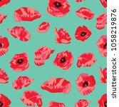 seamless floral vector pattern... | Shutterstock .eps vector #1058219876