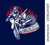motocross logo template vector...   Shutterstock .eps vector #1058224469