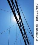 bridge suspension cables... | Shutterstock . vector #1058227850