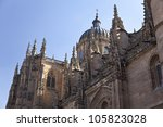 Dome of Salamanca New Cathedral (Catedral Nueva) - stock photo