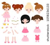 adorable little princess... | Shutterstock .eps vector #1058236133