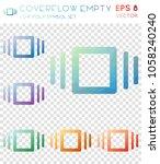 coverflow empty geometric... | Shutterstock .eps vector #1058240240
