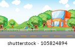 illustration of empty yard and... | Shutterstock . vector #105824894